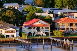 Waterfront houses in Bulimba